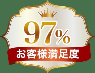 顧客満足度97%